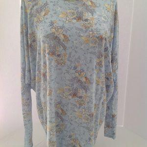 Amelia James Ladies Blue Flower Print Blouse